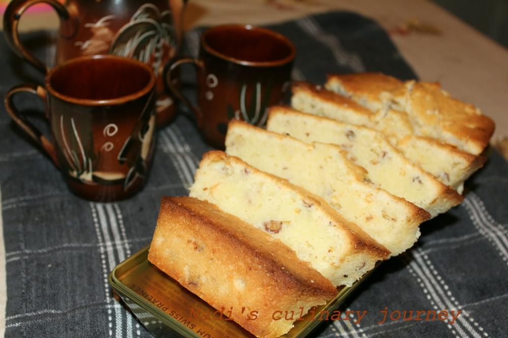 Coconut condensedmilk almond pound cake