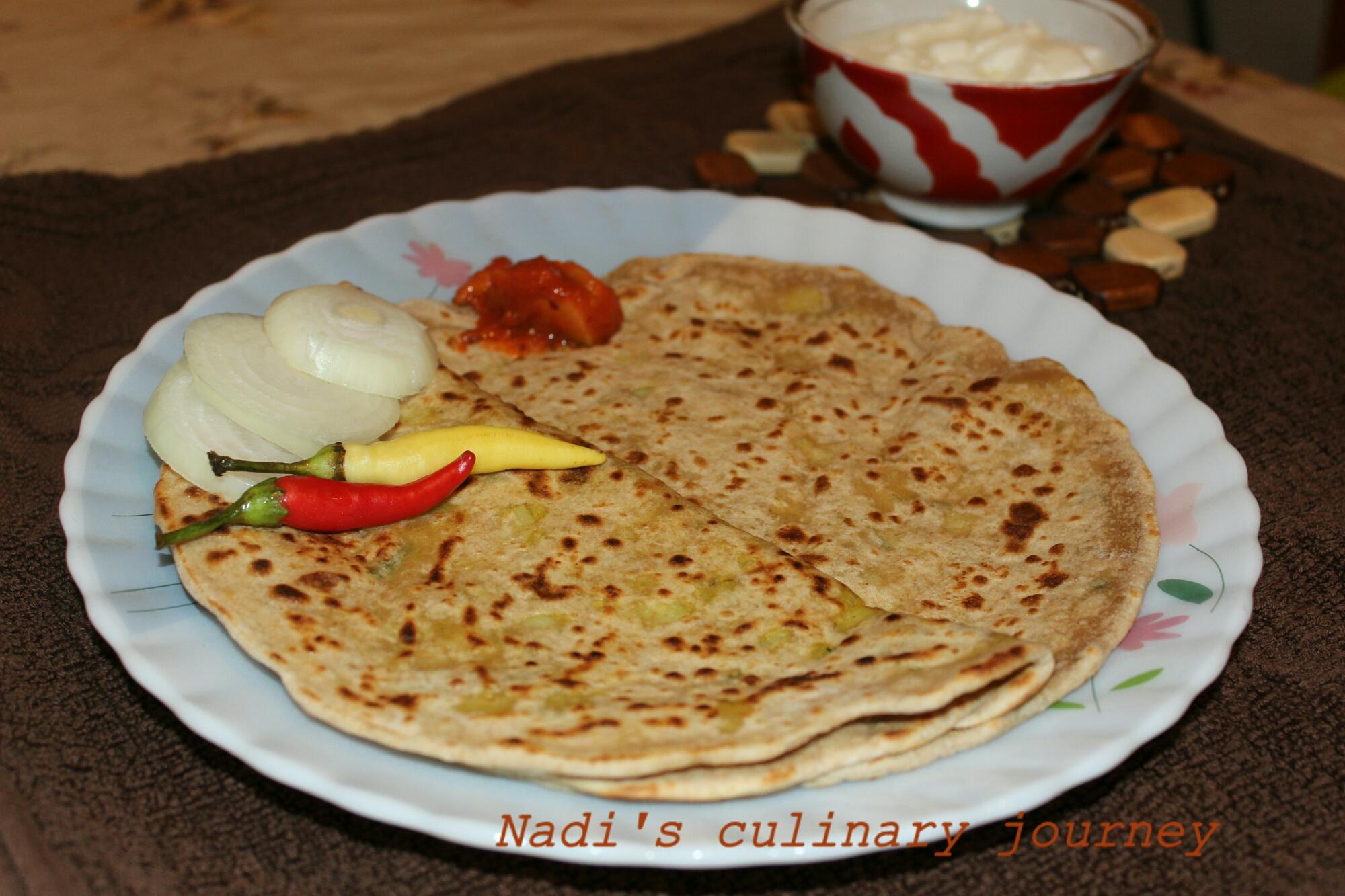 Potato stuffed Indian flat bread (Aloo paratha) – Nadi's ...