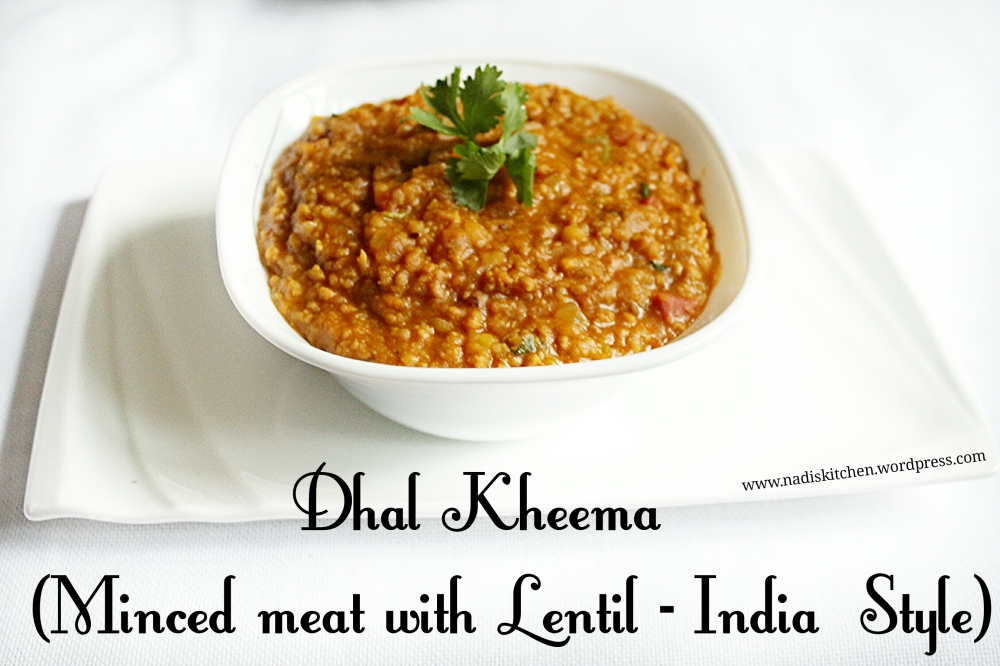 Dhal Kheema (Minced meat with Lentil-indian style)