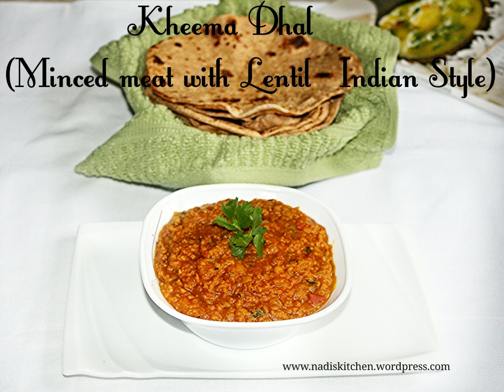 Kheema Dhal(Minced meat with lentil - indian style)