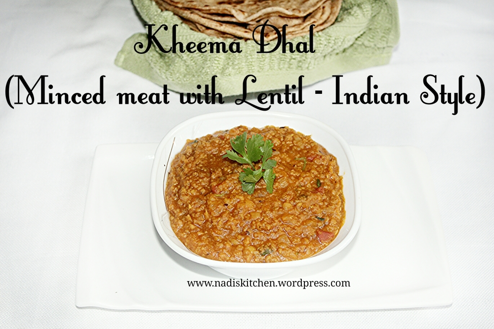 Kheema Dhal (Minced meat with lentil - indian style)