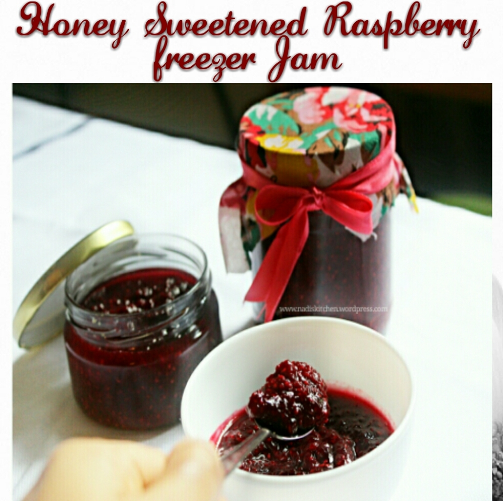 honey sweetened raspberry freezer jam without pectin