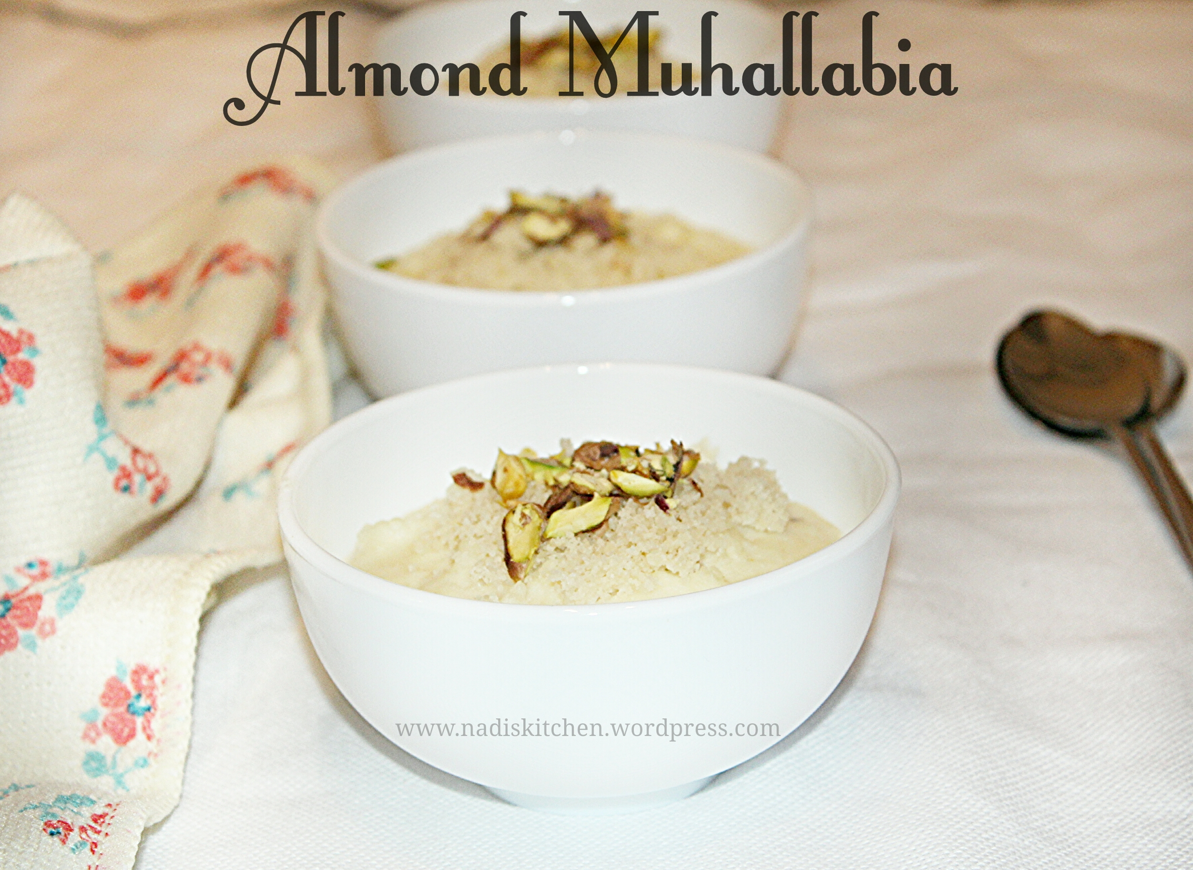Almond Muhallabia (Middle Eastern Dessert)