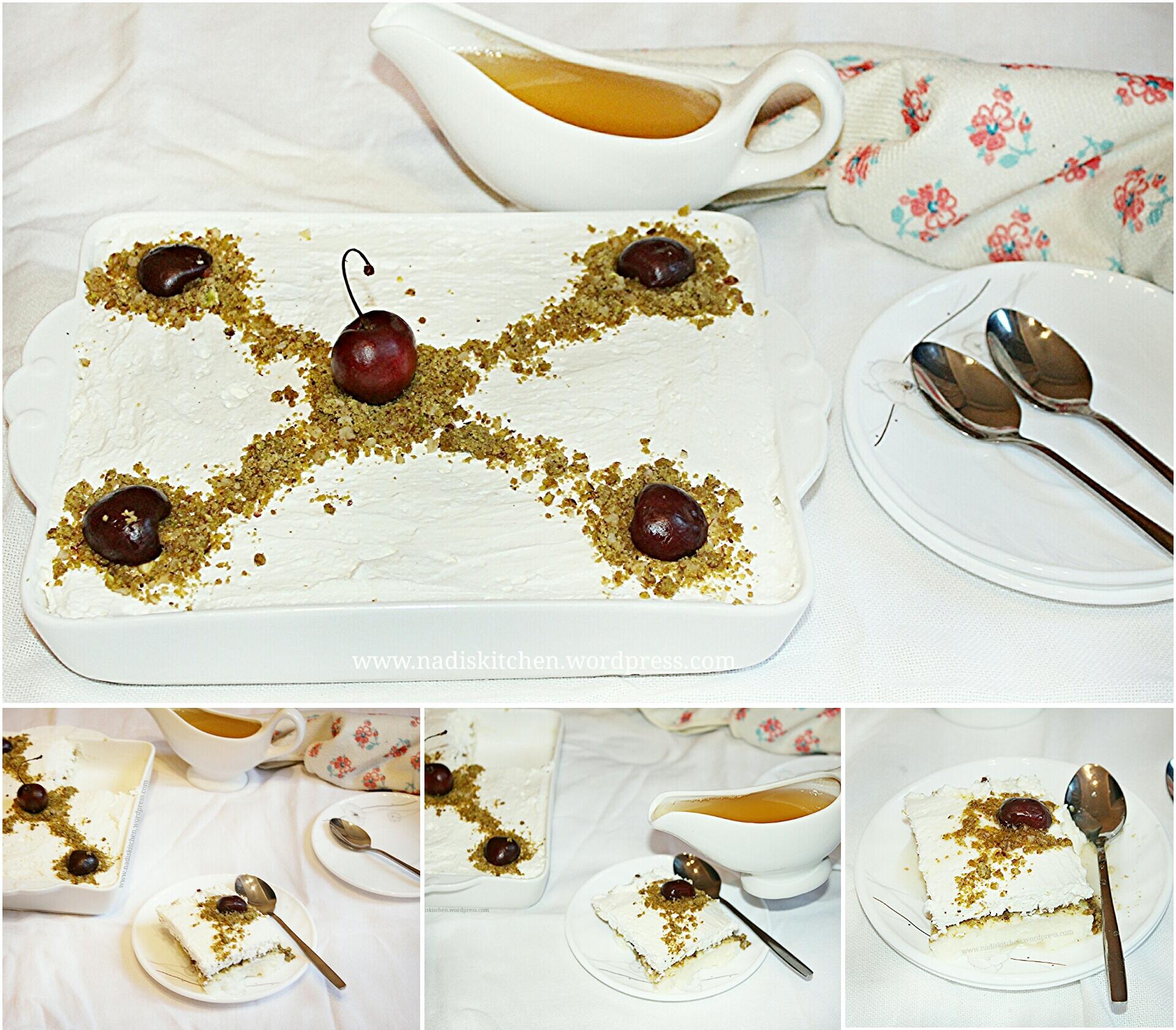 Layali Lubnan (Labanese nights) - Semolina pudding pie