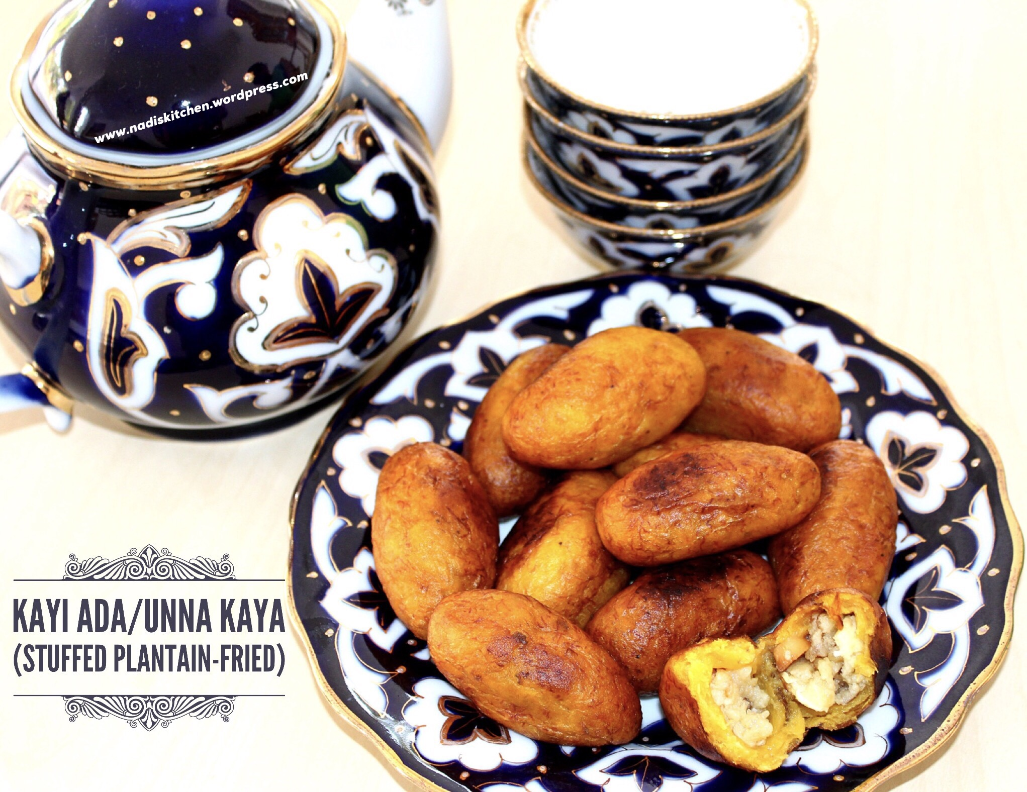 Kayi Ada/Unna Kaya (Stuffed Plantain-Fried)