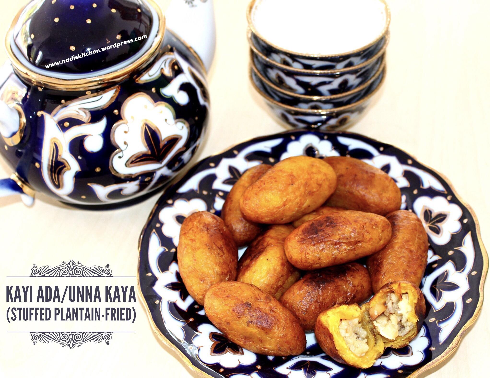 Kayi Ada/Unna Kaya (Stuffed Plantain-Fried)