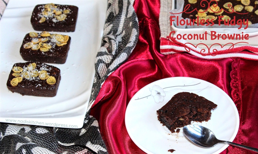 Flourless Fudgy Coconut Brownie