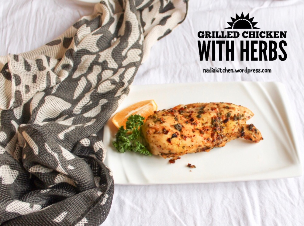 Oven Grilled Chicken With Herbs