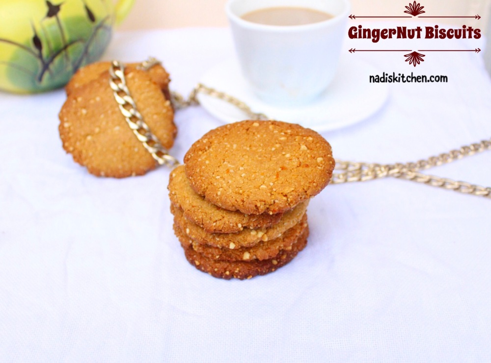 Gingernut Biscuits Recipe with cashew nuts
