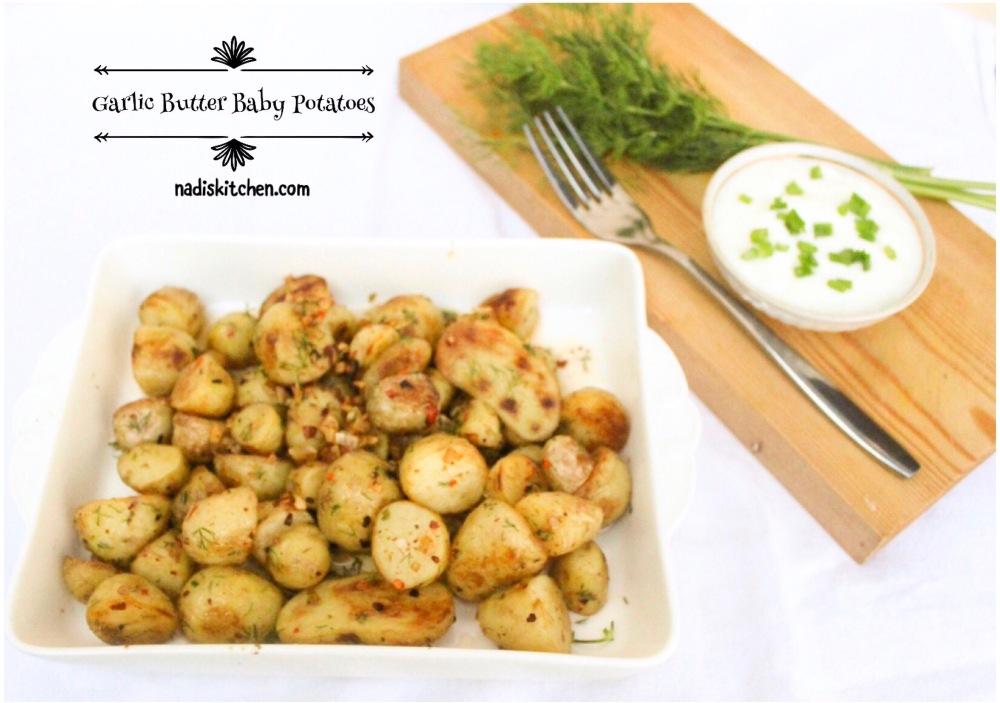 pan seared garlic butter baby potatoes