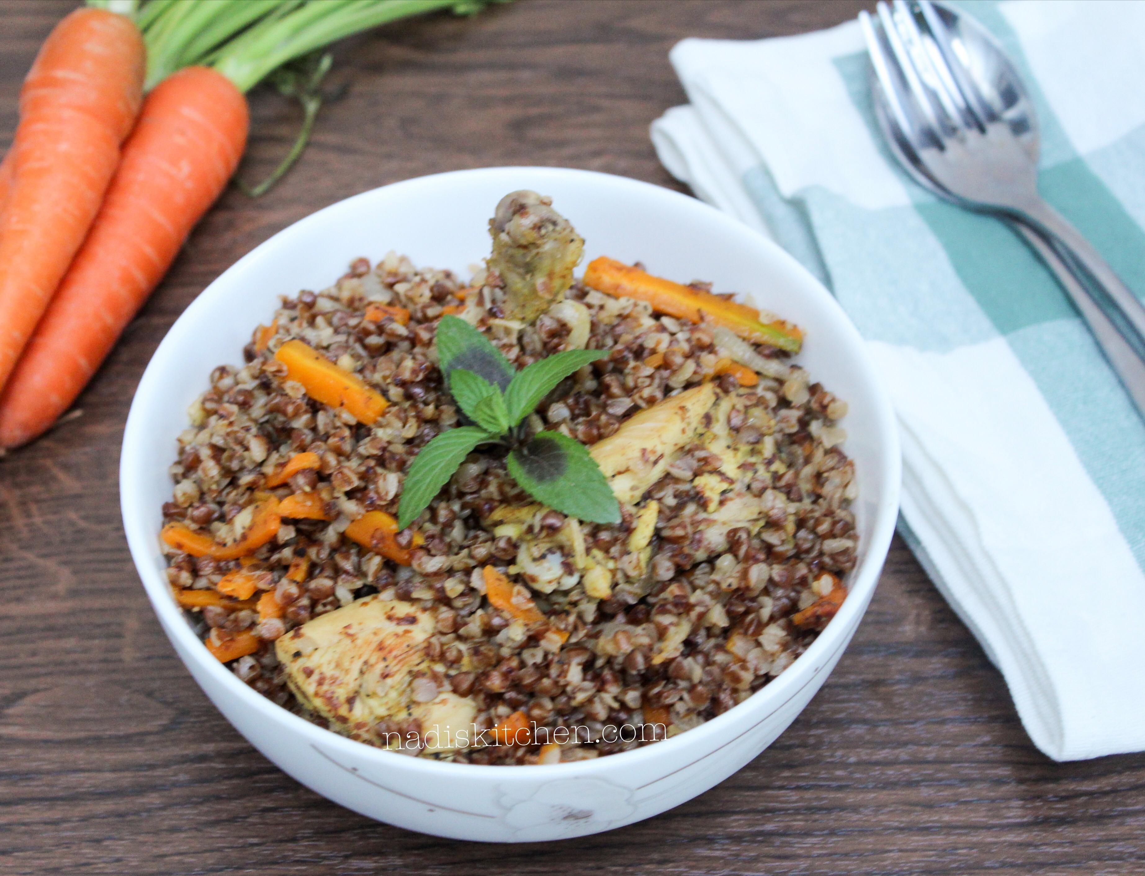 buckwheat chicken pulav/plov/plof/pilaf