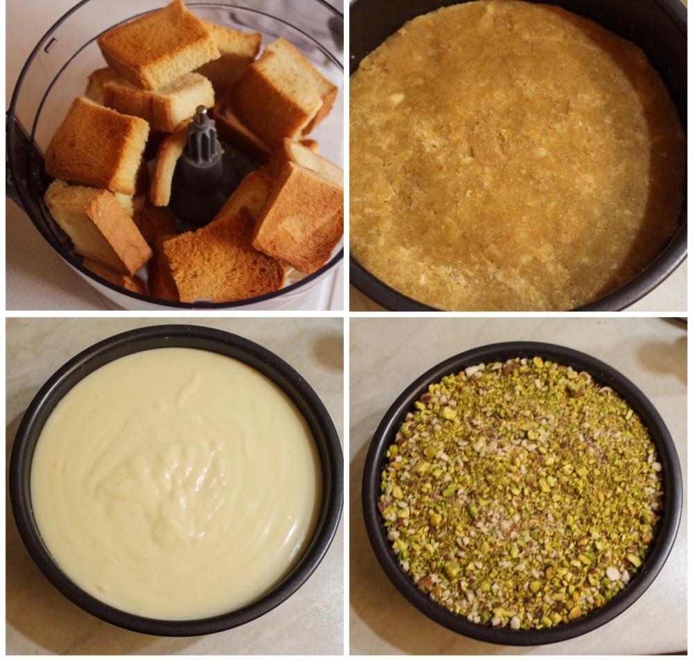 Aish el saraya (labanese bread pudding) - middle eastern dessert