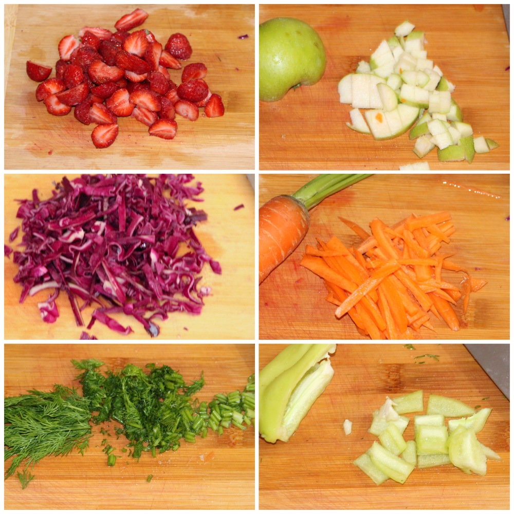 Summer slaw (Strawberry and apple slaw)