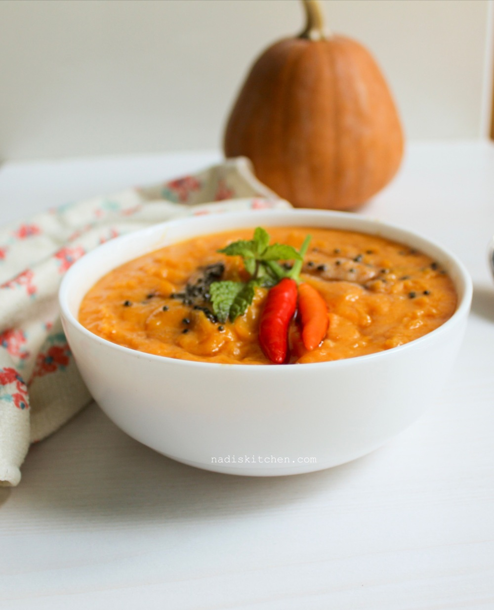 Pumpkin Curry with coconut milk
