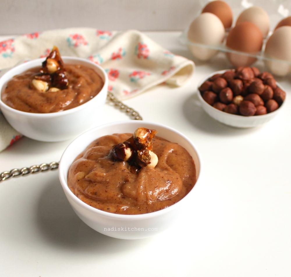 Hazelnut praline custard/pastry cream